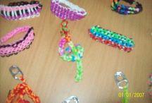 bracelet que je fait ainsi que porte cle