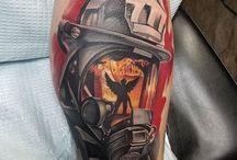 Fire fighter tattoos