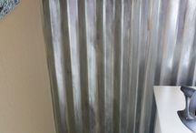 Tin and timber walls