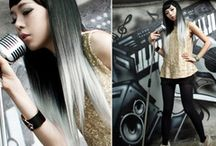 Ombre on black hair / Hair ombre