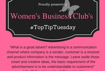#TopTipTuesday / A collection of our top business tips www.toptips.womensbusiness.club #TopTipTuesday