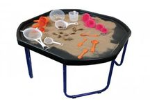 Sand and Water Play / A selection of sand and water play activities and equipment. Sand and water play helps in the development of fine motor skills, hand eye coordination, sensory perception and can be used to introduce children to literacy, numeracy and science.