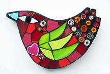 Mosaics birds