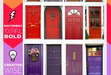 Opening Doors / A POP of color on doors can really be welcoming!