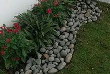 canteros con piedras