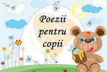 Poezii si cantece pentru copii / Megaparinti.ro iubeste copiii si de aceea va pune la dispozitie cele mai frumoase poezii si cantece pentru copii, care pot fi un mijloc distractiv de dezvoltare a capacitatii de memorare a micutului dumneavoastra. Pentru ca sunt inca prea micuti, Megaparinti.ro v-a pregatit o serie de poezii si cantece scurte si usoare, dar si poezii tematice si hazlii pe care copiii le vor indragi imediat.