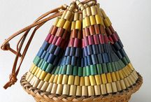 Bag inspiration / Thinking of making some bags from tubes and wooden beads...