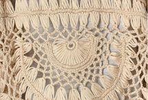crochê de grampo - vestuários