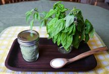 Basil and other garden herbs