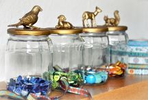 Arts & Crafts - Bottles, Jars and Glass / So many to fill...so little time. / by Marie E