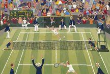 Tennis schildering ideeen\