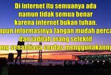 Informasi adalah segalanya tapi internet bukan tuhan