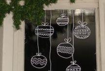 Raamschilderingen - kerst