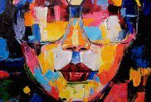 pop art faces