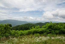 Blue Ridge Mountains / The Blue Ridge Mountains of Georgia, North Carolina and Tennessee.