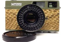 Canon Canonet 35mm Rangefinder Film Camera Moss green Snake leather