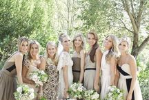 Bridesmaids & Feminine: Beige and Brown / Lovely beige and brown bridesmaid's dresses. #wedding #bridesmaid #bridesmaiddress #brownbridesmaiddress #beigebridesmaiddress #taupebridesmaiddress #tanbridesmaiddress