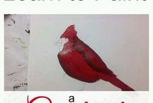 vogels schilderen