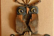 Driftwood owls / animals