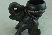 #코끼리 조각 티라이트 홀더 / 코끼리 조각상으로 티라이트 홀더를 만들었습니다.