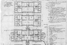 Antique architectural plans