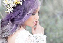 Noiva de cabelos coloridos
