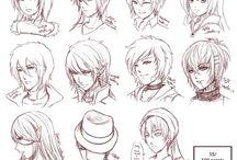 Zeichnungen Kopf/Haare/Gesicht