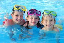 kids swimming / Most of the children like to swim