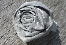 Comment faire des rose en ruban sur tissus