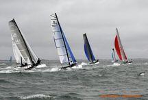 Catamarans de sport en fête...