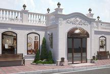 Дизайн проект фасада ресторана / Пожелания заказчика: выполнить рестайлинг фасада ресторана вдохнув в него дух эпохи возрождения.