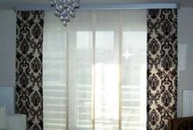 Slider Doors/Patio Doors / A few ideas and creative examples of patio or sliding door window treatments.