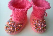 My felt.Baby shoes.
