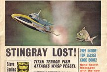 "TV Century 21 / The children's futuristic ""newspaper"" built around the Gerry Anderson universe of machines and characters (I was a subscriber and avid fan in my youth)."