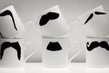 original moustache mug collections / These are images from my (upcoming web site)