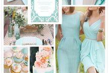 Palette nozze: azzurri e blu / Blue wedding palette / Ispirazioni per il matrimonio in azzurro o blu/ Blue wedding ideas