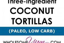 Coconut tortillas