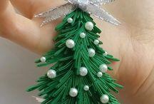 karácsonyi diszek quilling