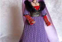 Barbie belle robe longue crochet-tricot / tenues de gala, princesse, prince etc ....