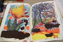 Altered Books Class / Turn your favorite book into a work of book art, a scrapbook, a travel memento, or a photo album. For teens or adults. Cut, paint, and decorate, and add photo corners and headings, transforming a book into a personal work of art. Repurposes discarded hardcovers that might hold sentimental value or be artistically interesting. $125 for materials and labor for up to 12 participants, all materials included. $150 for 18. $25 additional fee to travel outside 25-mile radius. / by Vanessa Fasanella