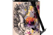 Bucket Bag - Look On The Bright Side / Women Leather Handbags, Limited Edition Designer Leather Bag COLOURS OF MY LIFE - Limited Edition wearable art signed by Anca Stefanescu.