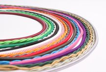 Time to Flex / Colourful selection of fabric flex lighting cable. Fancy...