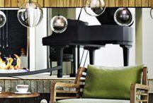 eco interior for country house / modern eco interior for villa