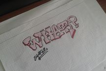 My Sketches / My own graffiti creations