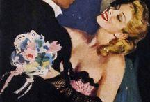 Retro- art : romance / he and she