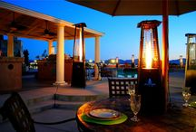Outdoor Living / Patio Lane carries outdoor heaters - and coming soon - fire pits and Sunbrella rugs
