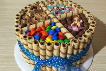 torta con barquillos y gomas
