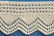 Tricot - bordures ; Knits - edgings
