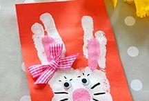 Bricolages Pâques / Des idées de bricolage que les enfants pourront réaliser et offrir avec fierté à Pâques aux parents, grands-parents, marraines, parrains...