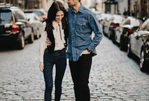 Couple photo - city style